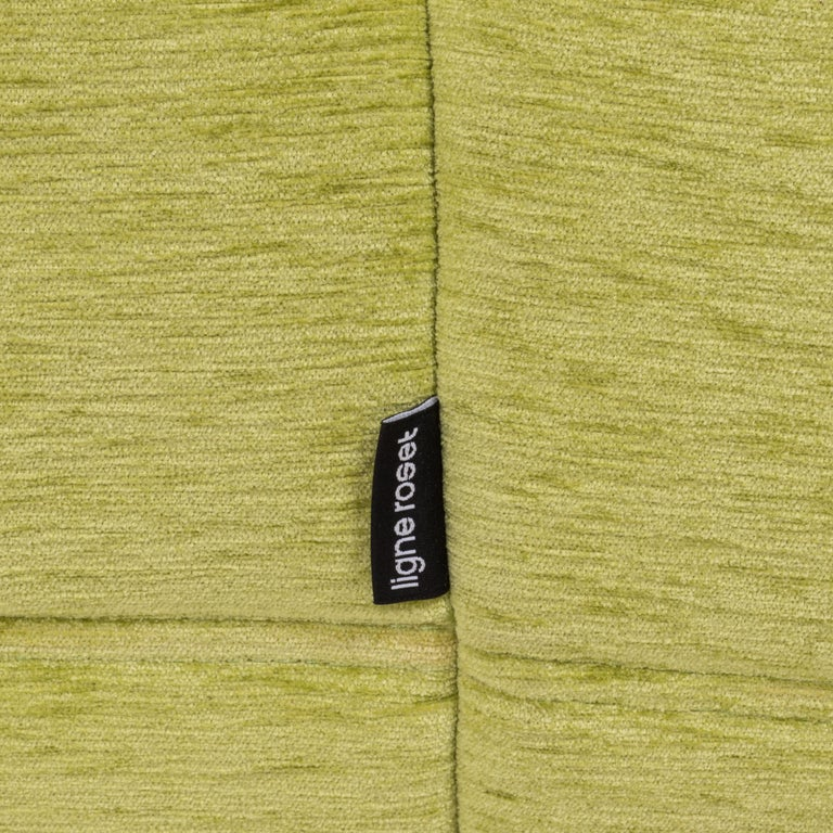 Togo Lime Green Fabric Sofa by Michel Ducaroy for Ligne Roset, Two-Piece Set For Sale 5