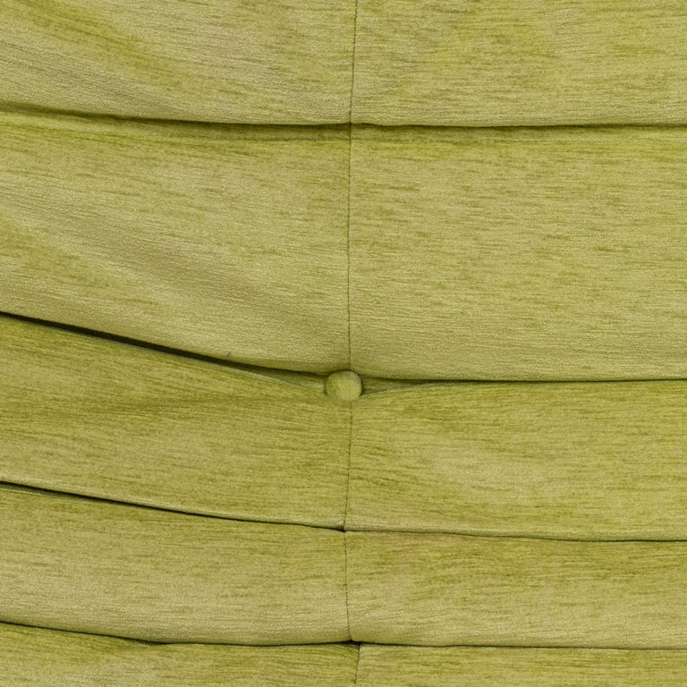 Togo Lime Green Fabric Sofa by Michel Ducaroy for Ligne Roset, Two-Piece Set For Sale 2