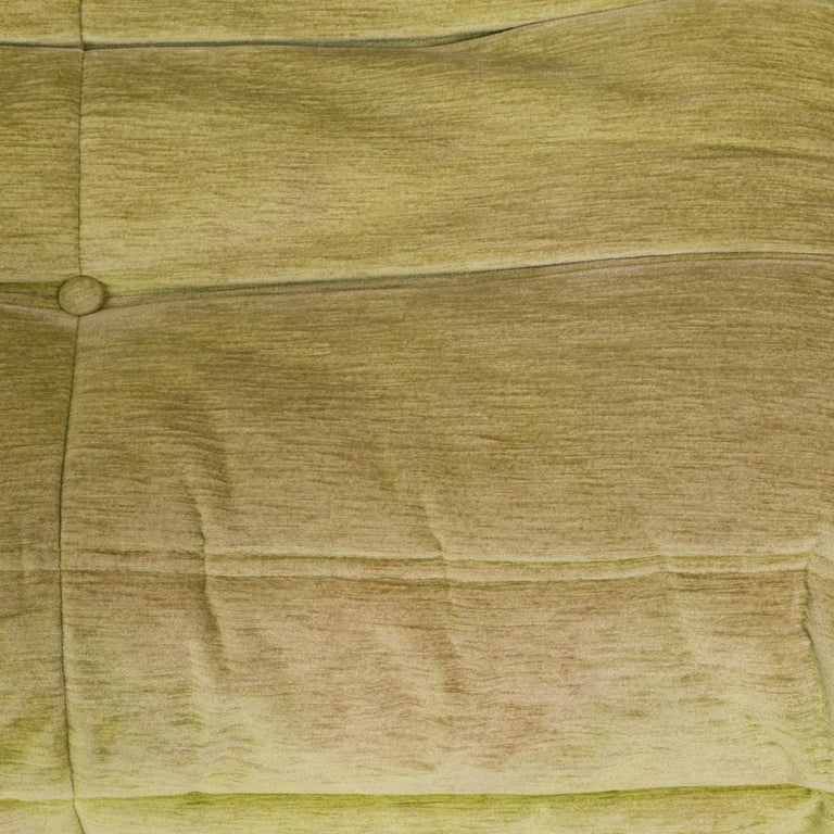 Togo Lime Green Fabric Sofa by Michel Ducaroy for Ligne Roset, Two-Piece Set For Sale 3