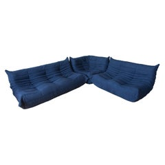 Togo Living Room Three Piece Set in Microfiber by Michel Ducaroy for Ligne Roset