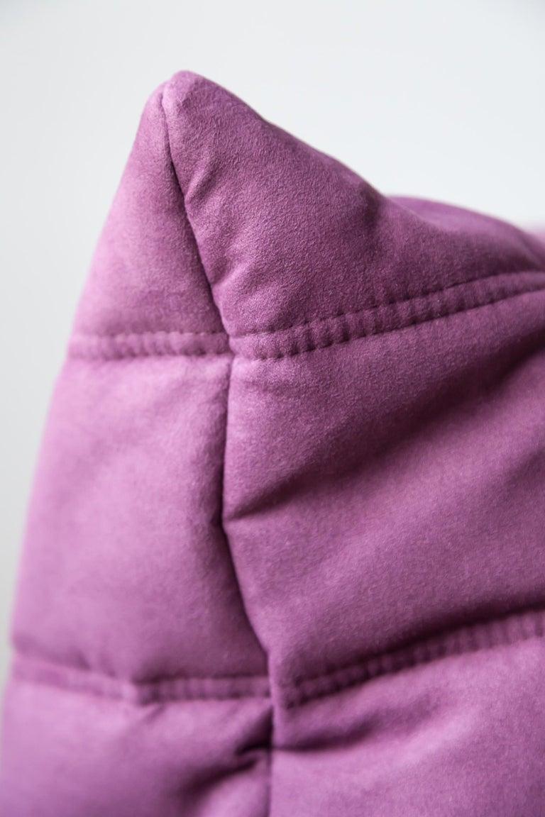 Togo Longue Chair in Aubergine/Purple Microfibre by Michel Ducaroy, Ligne Roset For Sale 4