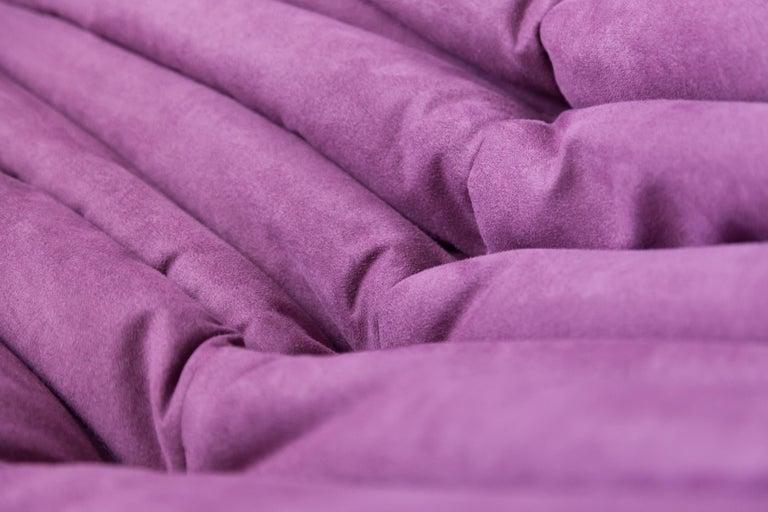 Togo Longue Chair in Aubergine/Purple Microfibre by Michel Ducaroy, Ligne Roset For Sale 6