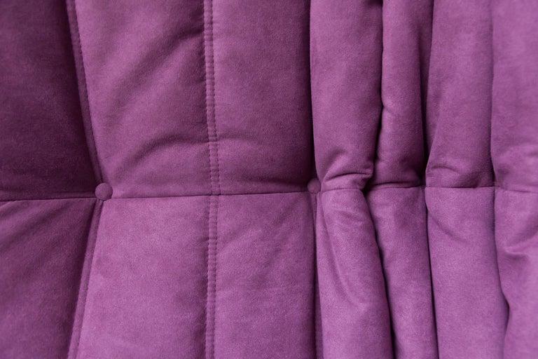 Togo Longue Chair in Aubergine/Purple Microfibre by Michel Ducaroy, Ligne Roset For Sale 7