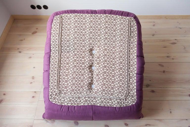 Togo Longue Chair in Aubergine/Purple Microfibre by Michel Ducaroy, Ligne Roset For Sale 8