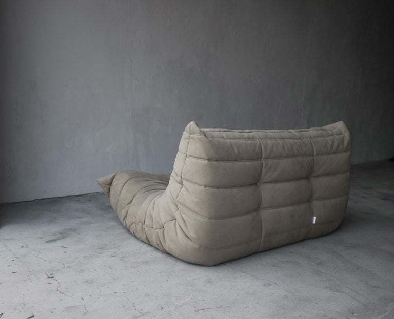 Mid-Century Modern Togo Loveseat Sofa by Ligne Roset For Sale