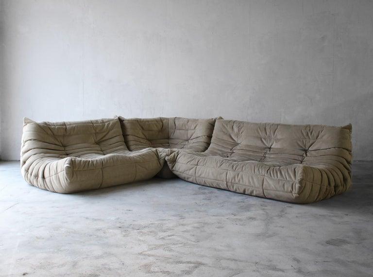 20th Century Togo Loveseat Sofa by Ligne Roset For Sale