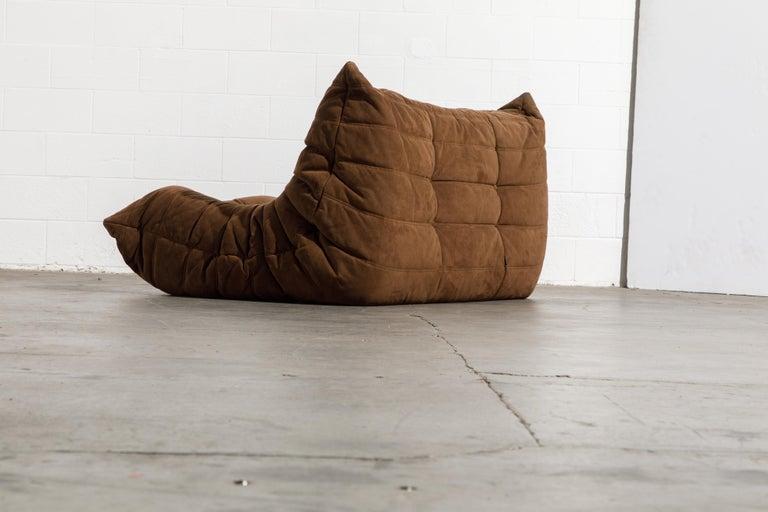 'Togo' Loveseat Sofa by Michel Ducaroy for Ligne Roset, Signed 3