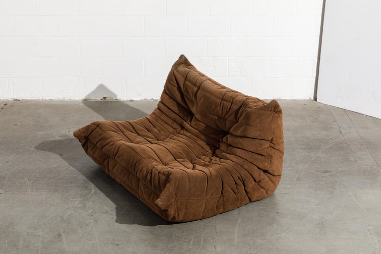 'Togo' Loveseat Sofa by Michel Ducaroy for Ligne Roset, Signed 5
