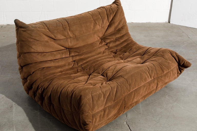 'Togo' Loveseat Sofa by Michel Ducaroy for Ligne Roset, Signed 6