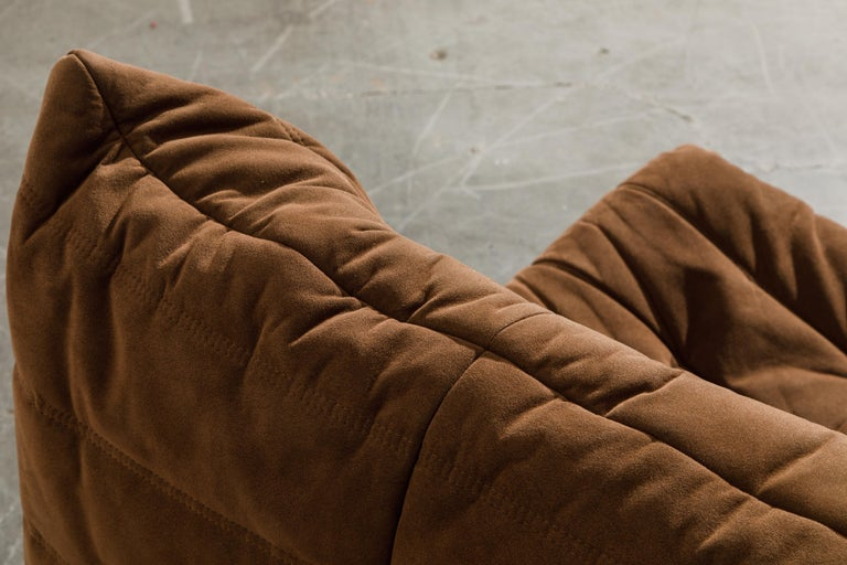 'Togo' Loveseat Sofa by Michel Ducaroy for Ligne Roset, Signed 8