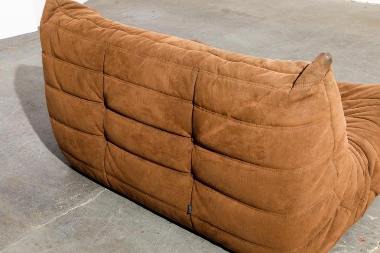 'Togo' Loveseat Sofa by Michel Ducaroy for Ligne Roset, Signed 9