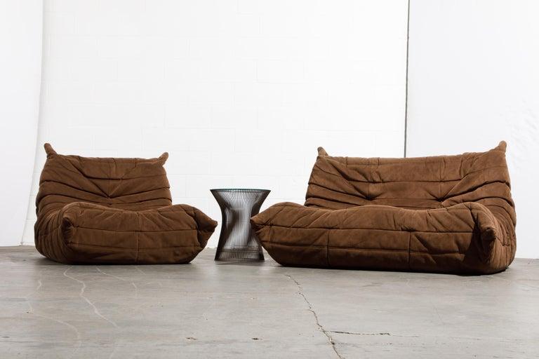 'Togo' Loveseat Sofa by Michel Ducaroy for Ligne Roset, Signed 11