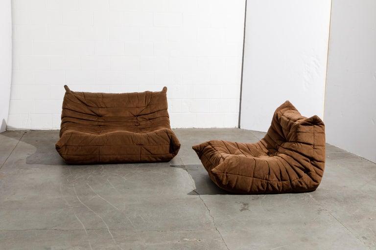 'Togo' Loveseat Sofa by Michel Ducaroy for Ligne Roset, Signed 12
