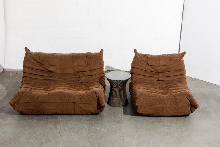 'Togo' Loveseat Sofa by Michel Ducaroy for Ligne Roset, Signed 13