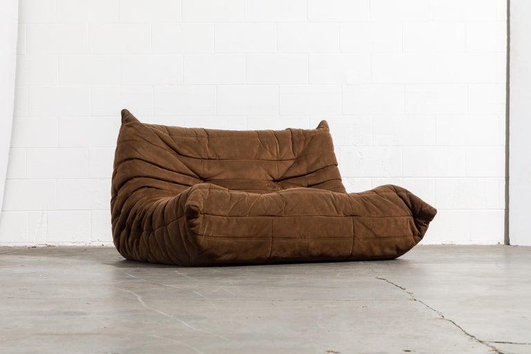 Modern 'Togo' Loveseat Sofa by Michel Ducaroy for Ligne Roset, Signed