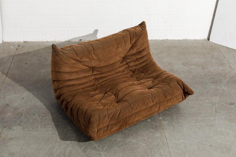 French 'Togo' Loveseat Sofa by Michel Ducaroy for Ligne Roset, Signed