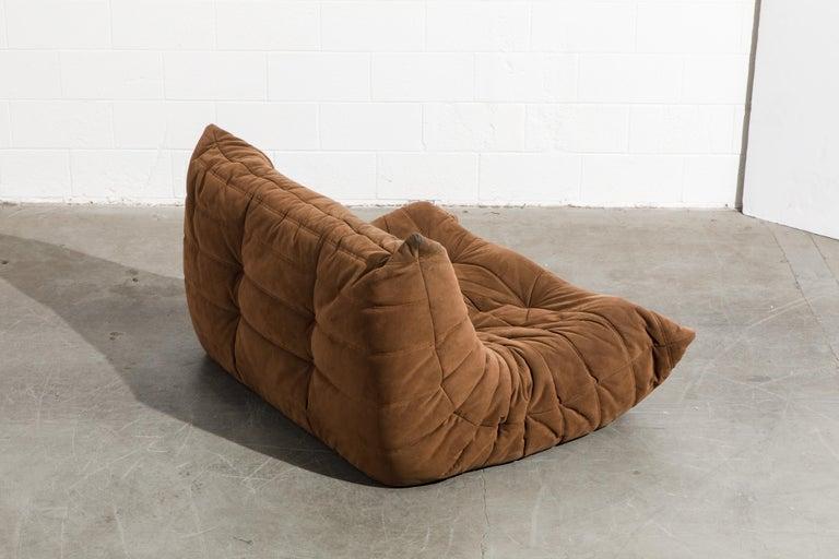 'Togo' Loveseat Sofa by Michel Ducaroy for Ligne Roset, Signed 1
