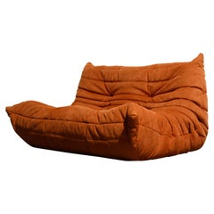 'Togo' Loveseat Sofa by Michel Ducaroy for Ligne Roset, Signed