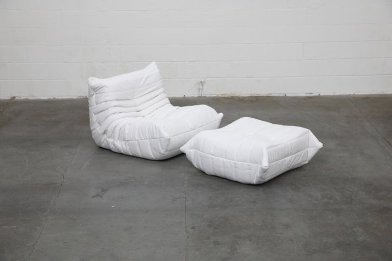 Togo Sectional Five-Piece Set by Michel Ducaroy for Ligne Roset in White Leather For Sale 2
