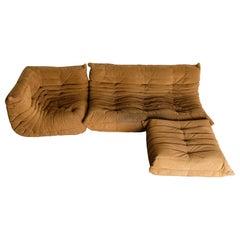 'Togo' Sectional Sofa Set by Michel Ducaroy for Ligne Roset, Signed