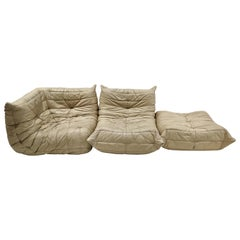 Togo Set in Leather by Michel Ducaroy