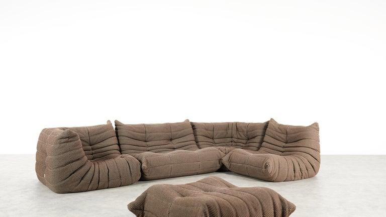 Togo Sofa / Livingroom Seatgroup by Michel Ducaroy for Ligne Roset In Good Condition For Sale In Halle, DE