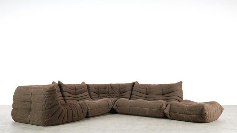Late 20th Century Togo Sofa / Livingroom Seatgroup by Michel Ducaroy for Ligne Roset For Sale
