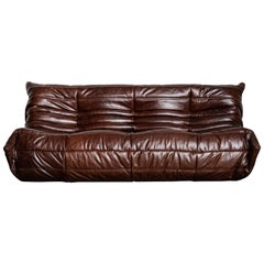 'Togo' Three Seat Sofa Set by Michel Ducaroy for Ligne Roset, Signed