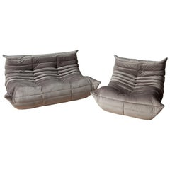 Togo Two-Piece Set, Design by Michel Ducaroy, Manufactured by Ligne Roset