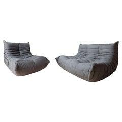 Togo Two-Piece Set, Design by Michel Ducaroy, Manufactured by Ligne Roset