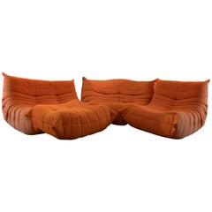 Togo Vintage Sofa Set by Michel Ducaroy for Ligne Roset, 1970s