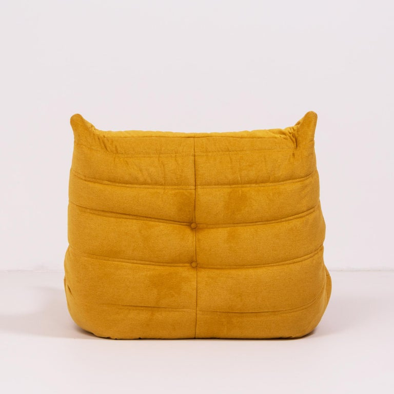 Late 20th Century Togo Yellow Fabric Fireside Chair by Michel Ducaroy for Ligne Roset For Sale
