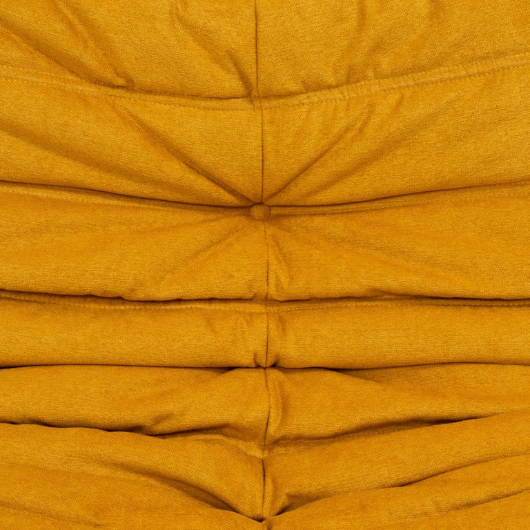 Togo Yellow Fabric Fireside Chair by Michel Ducaroy for Ligne Roset For Sale 1
