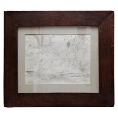 Togores Drawing on Paper for Kahnweilers Galerie Simon, 1927
