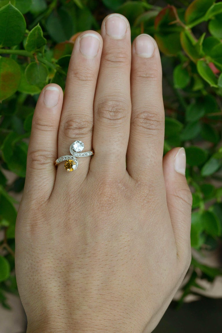 The Toi Et Moi Antique Engagement Ring. From the French