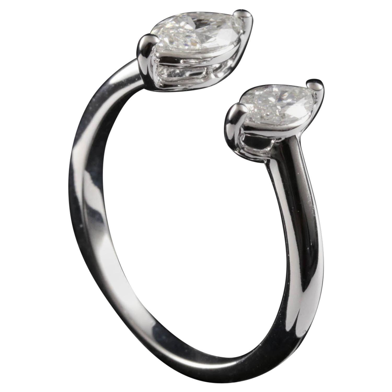 Toi et Moi Diamond Fashion Ring in 18 Karat Gold