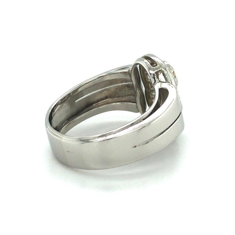 Toi et Moi Old European Cut Diamond Ring in 18 Karat White Gold and Platinum For Sale 5