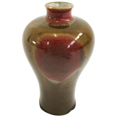 Toini Muona, Arabia, Attributed Glazed Ceramic Vase, Finland, circa Late 1940