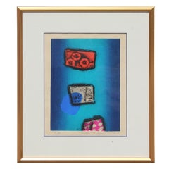 """Abstract """"Flowers"""" with Red, Blue and Pink Tones"""