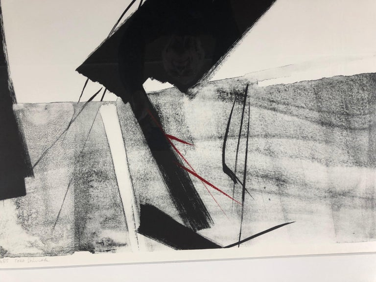 Through The Ages  by Toko Shinoda, black and white signed lithograph calligraphy For Sale 2