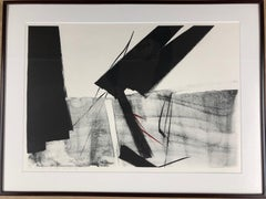 Through The Ages  by Toko Shinoda, black and white signed lithograph calligraphy