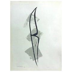 Toko Shinoda Signed Large Limited Edition Japanese Lithograph Print Moon, 1965