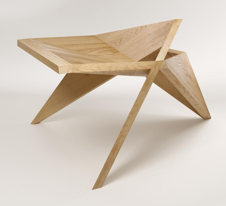 Alone in Tokyo is a stool, it's a wooden sculpture you can sit on. It's also a statement and a conversation starter. It was conceived back in 2006 when Tokyo Protocol was rejected by some of the biggest air-polluting countries in the world. Alone