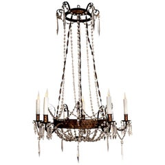 Tôle and Crystal Chandelier
