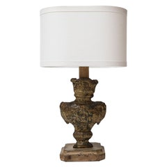 Tole Repousse Table Lamp