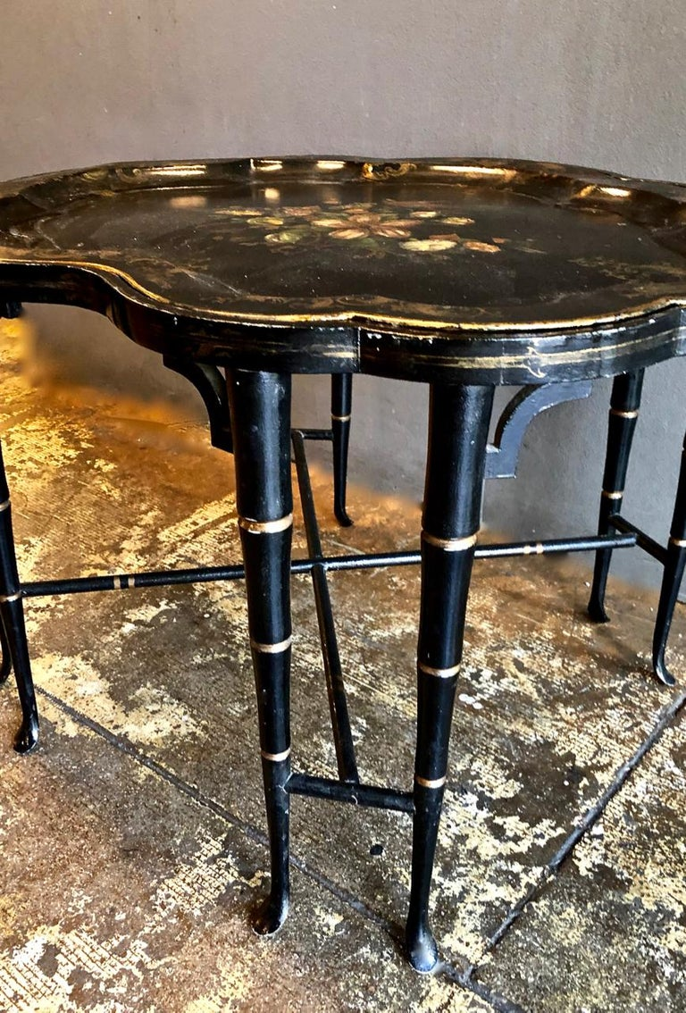 Tole Tray Table, 19th Century For Sale 2