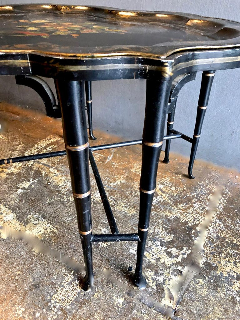 Tole Tray Table, 19th Century For Sale 3
