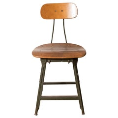 Toledo Metal Furniture Co. Drafting Stool, Toledo USA, circa 1940s