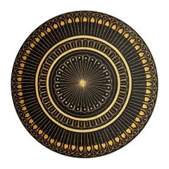 """Toledo Plate """"Damasquinado"""" Gold and Stell, 20th Century"""