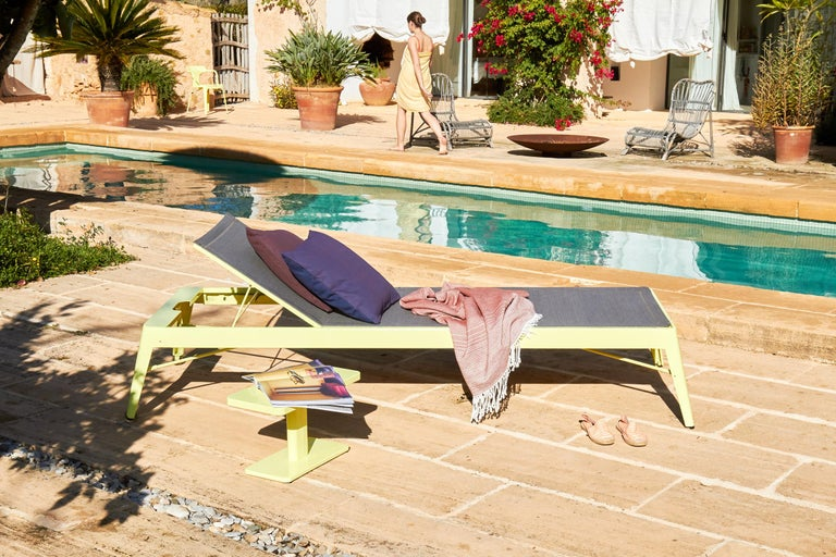 Tolix Bain de Soleil Outdoor Lounge in Stainless Steel by Frederic Gaunet For Sale 4
